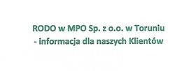 Informacja o RODO w MPO